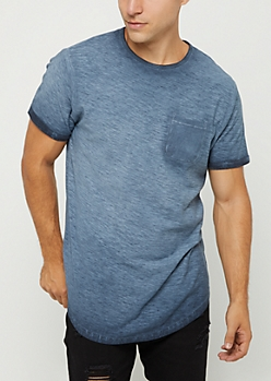 Navy Washed Pocket Tee