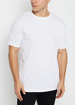 White Relaxed Fit Essential Tee