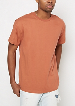 Copper Relaxed Longline Tee