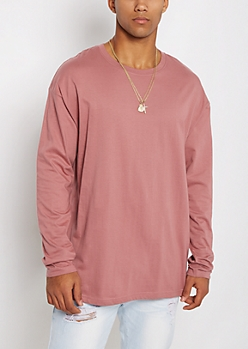 Mauve Long Sleeve Relaxed Tee