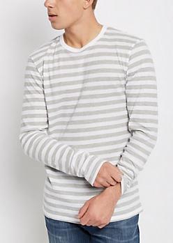 White & Gray Thermal Shirt