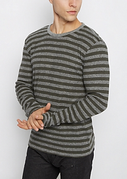 Olive & Gray Thermal Shirt