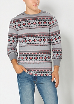 Red Southwestern Thermal Top