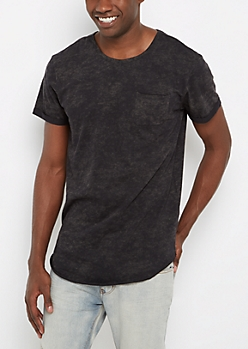 Charcoal Mineral Long Length Essential Tee