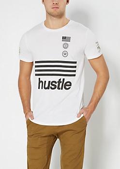 Hustle Emblems Long Hem Tee