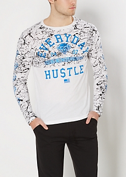 Everyday Hustle Paint Splattered Tee