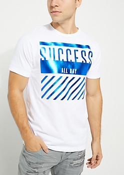 White Success All Day Knit Tee