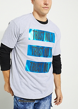 Heather Gray Triple Trust No. 1 Knit Tee