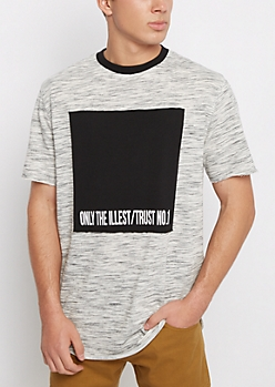 Trust No 1 Pieced Panel Space Dyed Tee