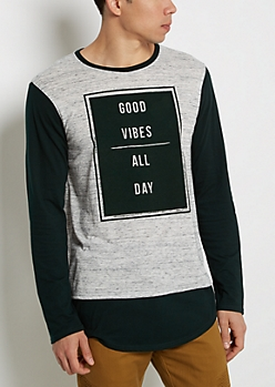 Good Vibes Shirttail Top