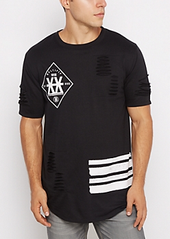 Multiply XX Ripped Longline Tee