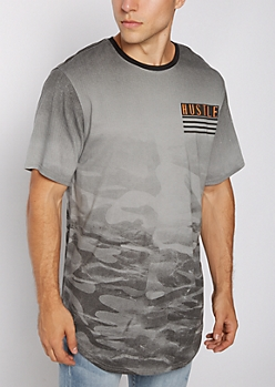 Hustle Faded Camo Tee