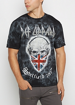 Def Leppard Cloud Wash Band Tee