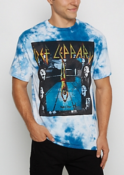 Def Leppard High N Dry Band Tee