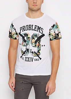Tropical 99 Problems Color Block Graphic Tee