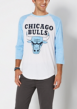 Blue Chicago Bulls Elephant Skin Baseball Top
