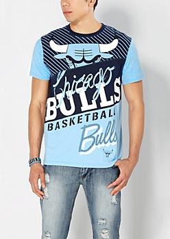 Blue Chicago Bulls Courtside Tee