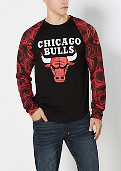 Rosed Out Chicago Bulls Baseball Top
