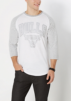 Chicago Bulls Geo Baseball Tee