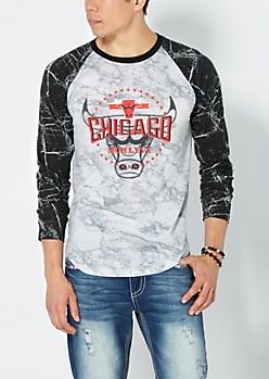 Marbled Chicago Bulls Baseball Top
