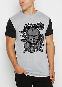 Skull Rose Maze Tee