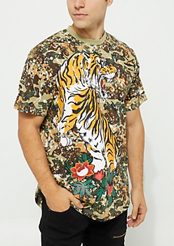 Camo Tiger Paint Splatter Tee
