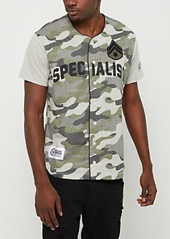 Camo Specialist Baseball Jersey