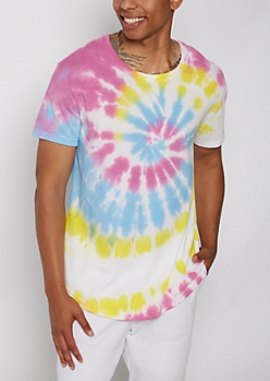 Multi-Color Tie Dye Tee