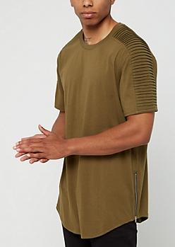 Olive Moto Short Sleeve Tee