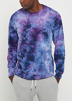 Navy Crystal Wash Long Sleeve Tee