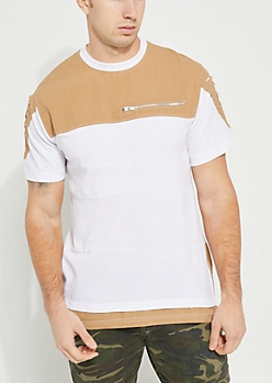 Brown & White Layered Tee