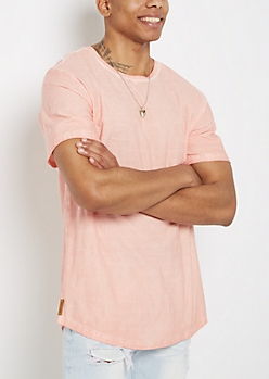 Pink Washed Slub Knit Tee