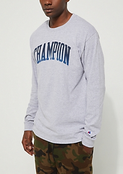 Light Gray Champion Classic Long Sleeve Tee