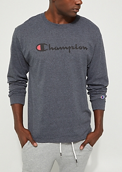 Charcoal Gray Champion Classic Long Sleeve Tee