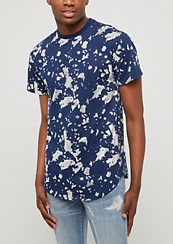 Navy Foiled Paint Splatter Tee