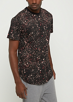 Pink & Burgundy Paint Splatter Tee