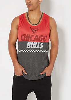 Chicago Bulls Marled Color Block Tank