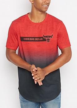 Chicago Bulls Speckled Dip Dye Tee