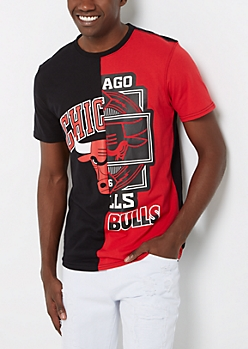 Chicago Bulls Logo Blocked Tee