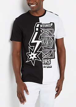 San Antonio Spurs Logo Blocked Tee