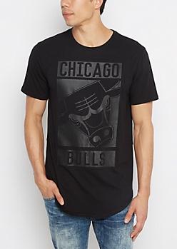 Chicago Bulls Black Print Tee