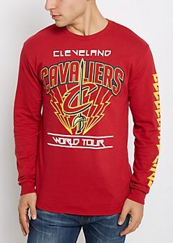 Cleveland Cavs World Tour Long Sleeve Tee