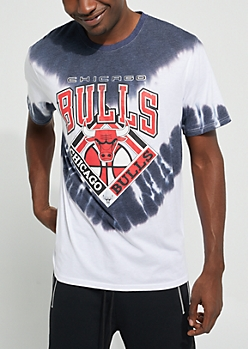 Gray Tie-Dye Chicago Bulls Tee