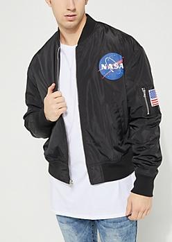 NASA Patched Bomber Jacket