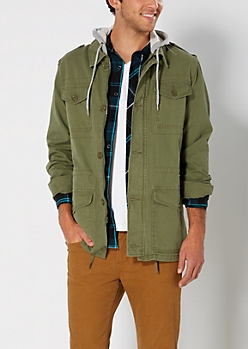 Hooded Canvas Utility Jacket