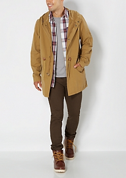 Tan Hooded Anorak