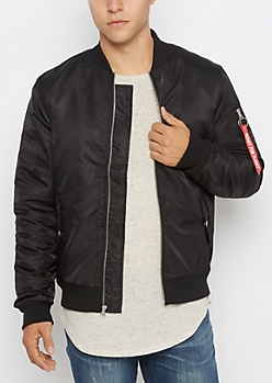 Black Ready For Flight Bomber Jacket