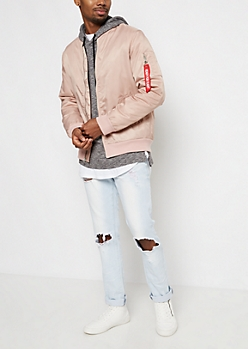 Pink Ready For Flight Bomber Jacket