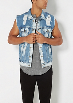 Destroyed Vintage Jean Vest
