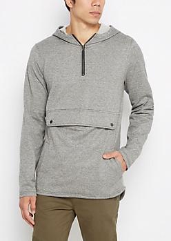 Marled Jersey Fleece Anorak